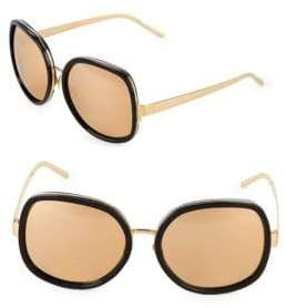 Linda Farrow 62MM Square Sunglasses