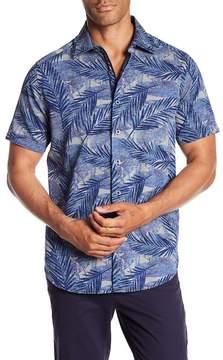 Robert Graham Acme Road Leaf Print Classic Fit Shirt