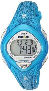 Timex Women's Mid Size Ironman Sleek 30 Blue Resin Watch TW5M08800