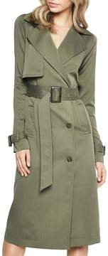 Bardot Belted Military Trench Dress
