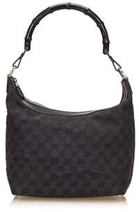 Gucci Pre-owned: Guccissima Jacquard Bamboo Shoulder Bag. - BLACK - STYLE