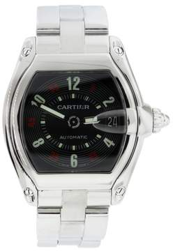 Cartier Roadster Stainless Steel Casino Dial Automatic 36mm Mens Watch