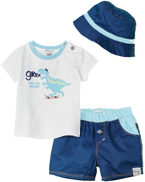 Absorba Boys' 3Pc Shirt, Short, & Hat Set