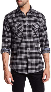 James Campbell Agra Plaid Long Sleeve Regular Fit Shirt