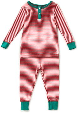 Starting Out Baby Boys 12-24 Months Christmas Striped Henley Top & Striped Pants Pajama Set