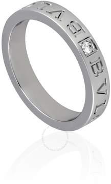 Bvlgari 18K White Gold Diamond Ring Size 8.5