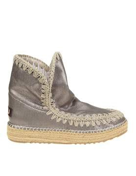 Mou eskimo Sneaker Boots In Gray Leather