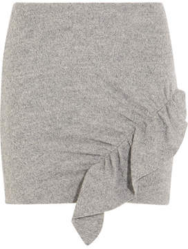 IRO Toman Ruffled Wool Mini Skirt - Light gray