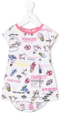 Kenzo cartoon print dress