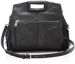Maje Fringe Leather Crossbody