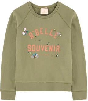 Scotch & Soda Graphic sweatshirt with cabochons