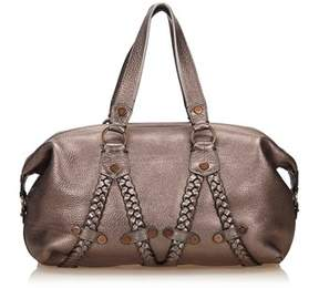 Mulberry Pre-owned: Metallic Leather Handbag.