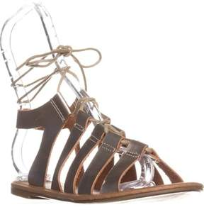 Wanted Ghillie Flat Lace-up Sandals, Gold.