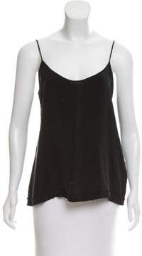 Anine Bing Raw-Edge Sleeveless Top