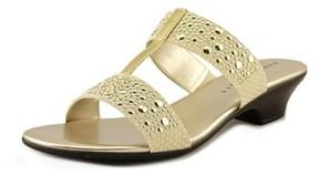 Karen Scott Eddina Open Toe Canvas Slides Sandal.