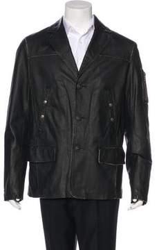 Alpha Industries Leather Utility Jacket