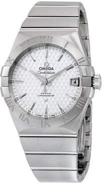 Omega Constellation Silver Dial Stainless Steel Automatic Men's Watch