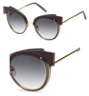 Marc Jacobs Women's Marc101s Cateye Sunglasses, Gold Copper/Dark Gray Gradient, 66 mm
