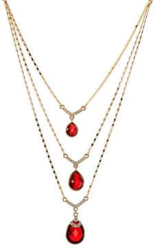 Carolee Multi-Row Drop Stone Necklace