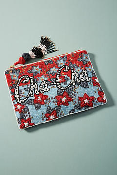 Anthropologie Turn of Phrase Beaded Pouch