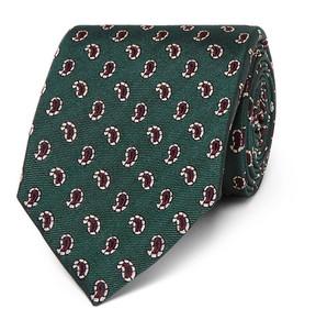 Dunhill 8cm Paisley Mulberry Silk-Jacquard Tie
