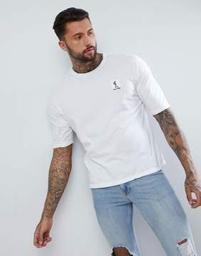 Religion Boxy Fit T-Shirt In White With Distressing