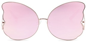Matthew Williamson Butterfly frame metal mirror sunglasses