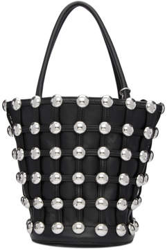 Alexander Wang Black Large Roxy Cage Bucket Bag