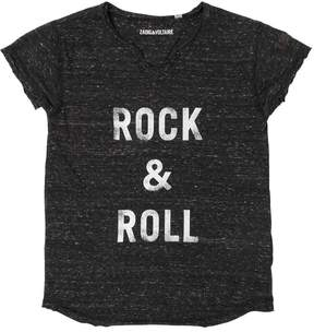 Zadig & Voltaire Rock & Roll Slub Cotton Jersey T-Shirt