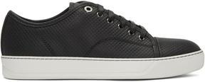 Lanvin Black Perforated Low-Top Sneakers