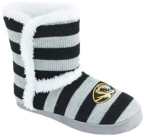NCAA Women's Missouri Tigers Striped Boot Slippers