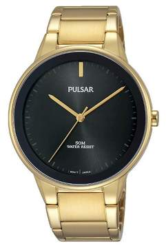 Pulsar Men's Pusar - Gold Tone with Black Dial and Bezel PG2046