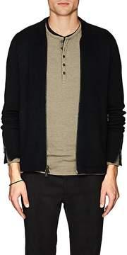 John Varvatos Men's Merino Wool-Blend Zip-Front Sweater
