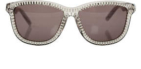 Alexander Wang linda farrow x  Grey Trans Zipper Motif Sunglasses