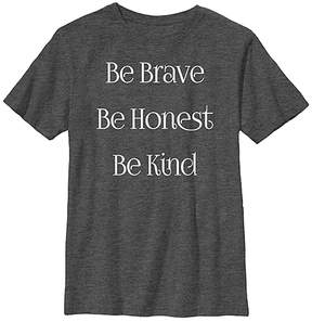 Fifth Sun Charcoal Heather 'Be Brave' Crewneck Tee - Youth
