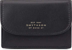 Smythson Connaught leather business and credit card case
