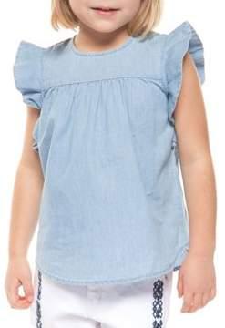Dex Little Girl's Frill-Sleeve Cotton Top