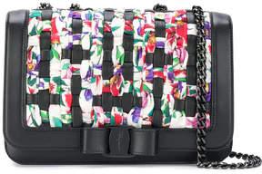 Salvatore Ferragamo Vara Intrecciato floral print shoulder bag