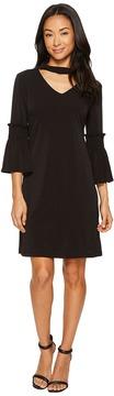 Christin Michaels Tatum Bell Sleeve Dress with Keyhole Women's Dress