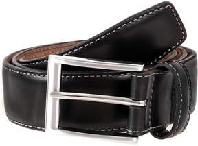 Dents Contrast topstitch belt