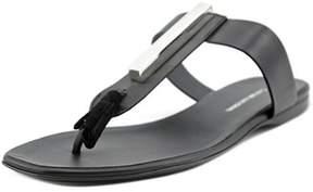 CNC Costume National Tassel Flat Sandal Open Toe Leather Thong Sandal.