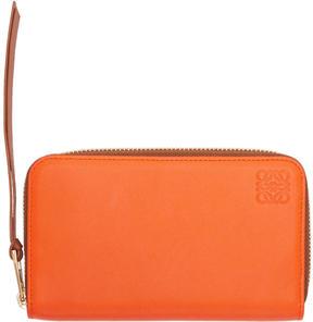 Loewe Orange Medium Zip Around Wallet