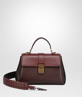 Bottega Veneta Dark Barolo Nappa Small Piazza Bag