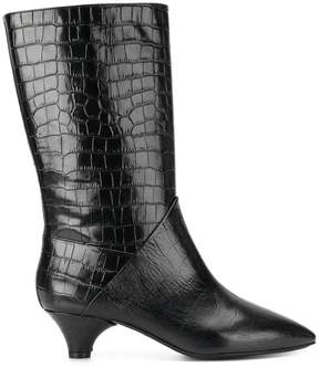Marni crocodile-effect boots