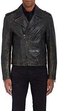 Ralph Lauren Purple Label Men's Locklear Distressed Leather Moto Jacket