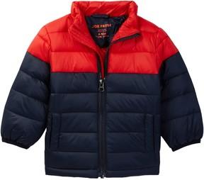 Joe Fresh Color Block Puffy Jacket (Baby Boys)
