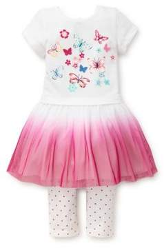 Little Me Baby Girl's Butterfly Dress and Legging Set