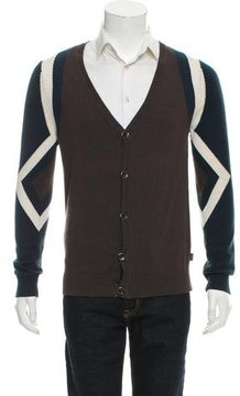 Just Cavalli Silk Colorblock Cardigan