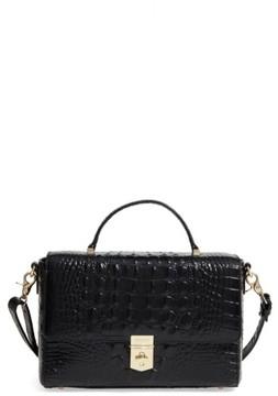 Brahmin Danielle Leather Top Handle Satchel - Black
