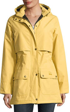Barbour Stratus Hooded Utility Jacket, Gold